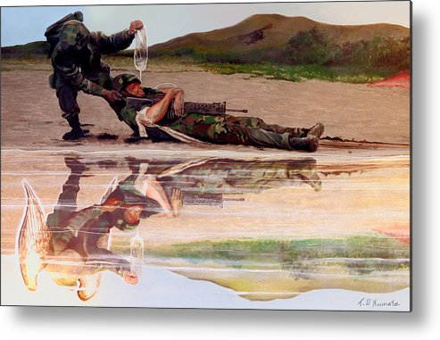 Military Art Metal Print featuring the photograph Wings Of Hope by Todd Krasovetz