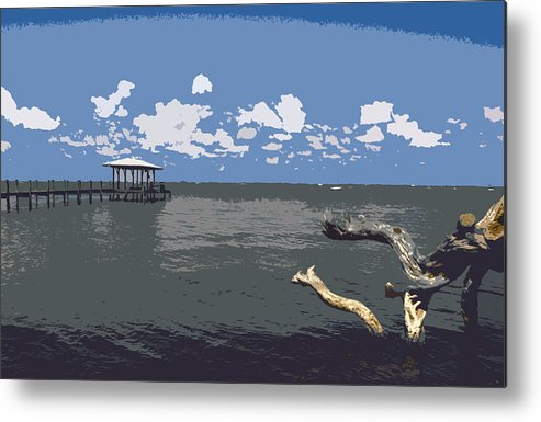 Lagoon Metal Print featuring the painting Indian River Lagoon by Allan Hughes