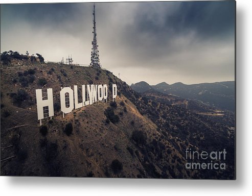Hollywood Metal Print featuring the photograph Hollywood Sign by Konstantin Sutyagin