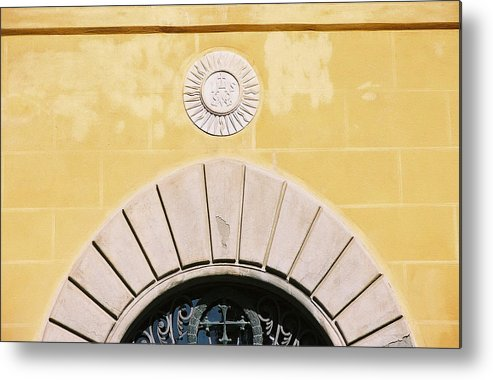 Yellow Metal Print featuring the photograph Untitled by Kathy Schumann