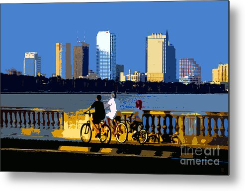 Tampa Bay Florida Metal Print featuring the painting A Tampa Bay Florida Summer by David Lee Thompson