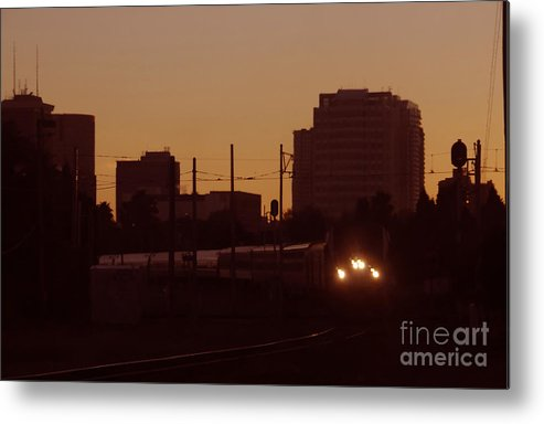 Train Metal Print featuring the photograph A Train A Com In by David Lee Thompson