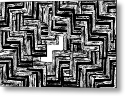 Abstract Metal Print featuring the digital art Digital Landscape 3 by Heather Brown