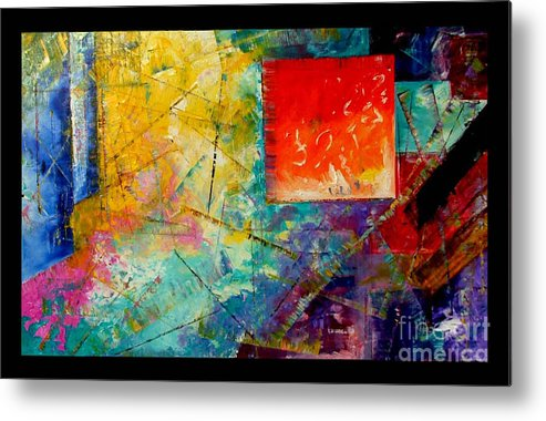 Abstract Metal Print featuring the painting Abstract1 by Inna Montano