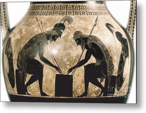 540 B.c Metal Print featuring the photograph Achilles & Ajax, C540 B.c by Granger