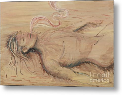 Adam Metal Print featuring the painting Adam And The Breath Of God by Nadine Rippelmeyer