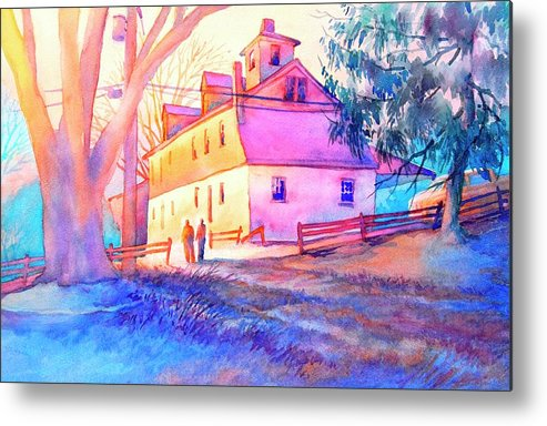 Landscape Metal Print featuring the painting Afternoon Glow by Virgil Carter