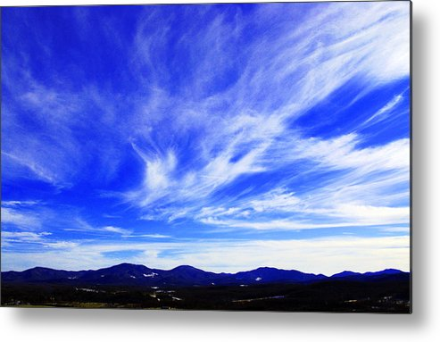 Sky Metal Print featuring the photograph Afton Sky And Mountains I by Richard Singleton