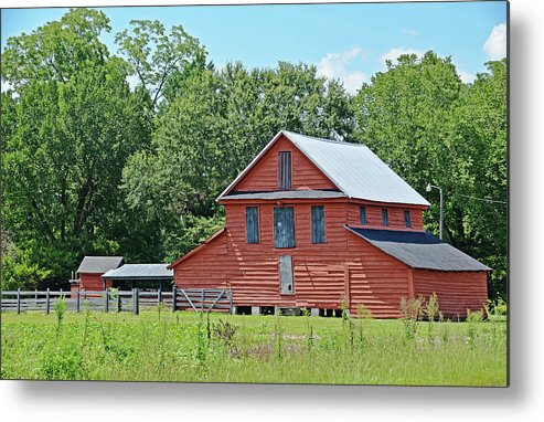 Country Metal Print featuring the photograph Along Highway 403 by Linda Brown
