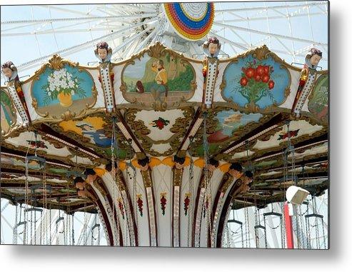 Larger Ferris Wheels Metal Print featuring the photograph Amusement 16 by Joyce StJames