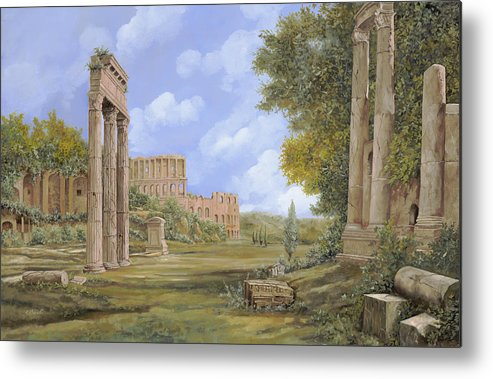 Landscapes Metal Print featuring the painting Anfiteatro Romano by Guido Borelli