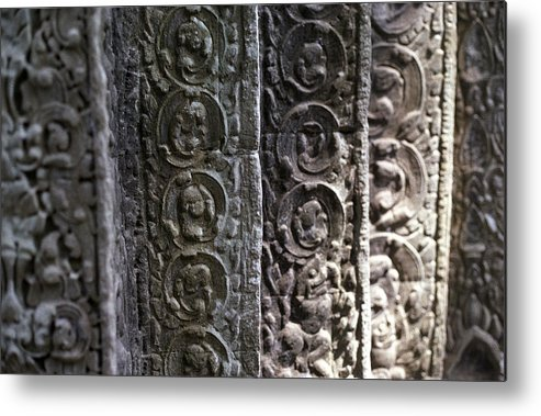 Angkor Metal Print featuring the photograph Angkor Layers by Marcus Best