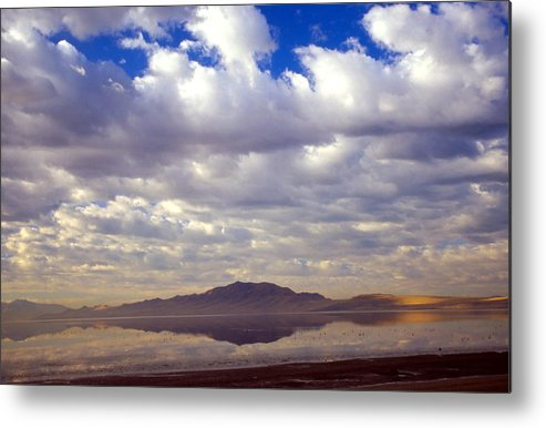 Great Salt Lake Metal Print featuring the photograph Antelope Island 1 by Steve Ohlsen