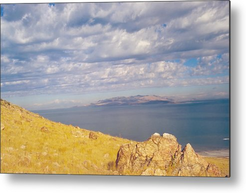 Great Salt Lake Metal Print featuring the photograph Antelope Island 3 by Steve Ohlsen