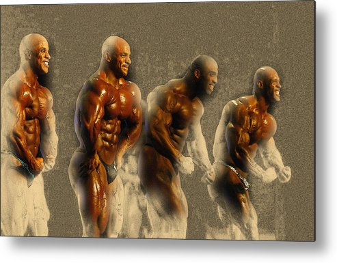 Decorative Metal Print featuring the digital art Arnold Classic Brazil 2015 In Rio De Janeiro by Don Kuing