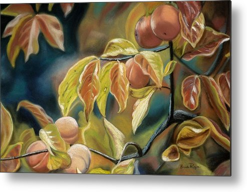 Autumn Metal Print featuring the painting Autumn Peaches by Brenda Williams