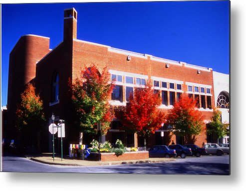 Bank In Fayetteville Metal Print featuring the mixed media Bank In Fayetteville by Curtis J Neeley Jr