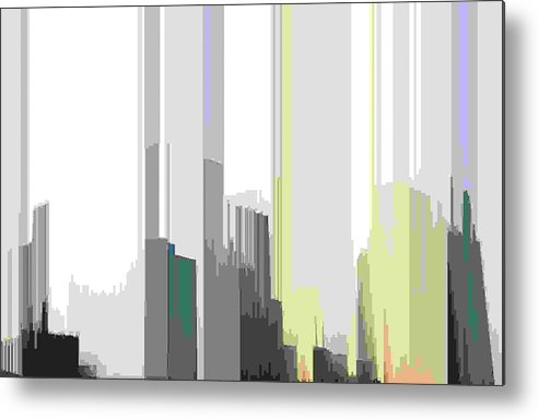Abstract Metal Print featuring the digital art Beams Sig by Lyle Crump