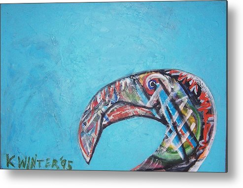 Bird Metal Print featuring the painting Bird by Dave Kwinter