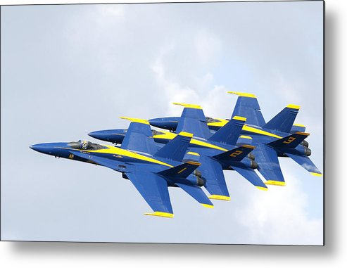 Blue Angels Metal Print featuring the photograph Blue Angels by Bill Linhares