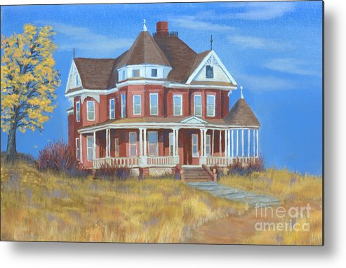 Boulder Metal Print featuring the painting Boulder Victorian by Jerry McElroy