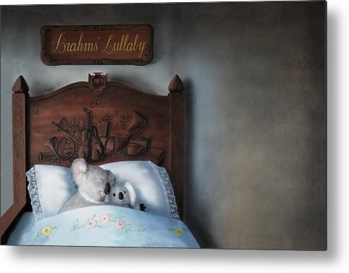 Koala Metal Print featuring the painting Brahms' Lullaby by Philippe Plouchart