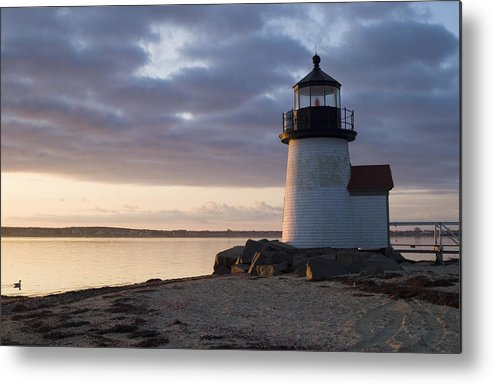 Nantucket Metal Print featuring the photograph Brant Point Light Number 1 Nantucket by Henry Krauzyk