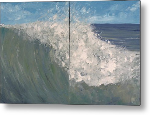 Ocean Metal Print featuring the painting Breaker Ll by Pete Maier