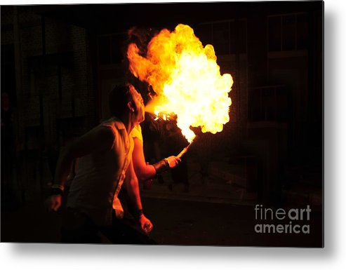 Fire Metal Print featuring the photograph Breath Of Fire by David Lee Thompson