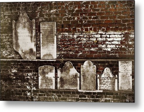 Cemetary Metal Print featuring the photograph Cemetary Wall by JAMART Photography