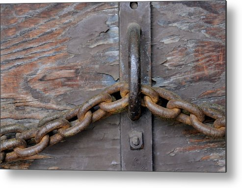 Chain Metal Print featuring the photograph Chain And Grain by Dan Holm