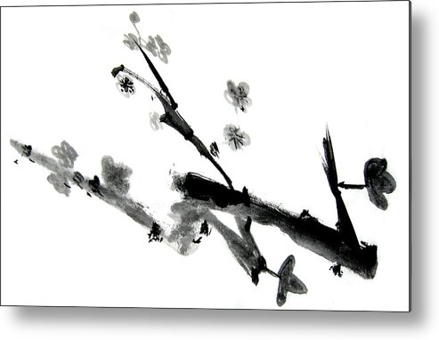 Chinese Brush Metal Print featuring the painting Chinese Brush Lv by Ed Deloria