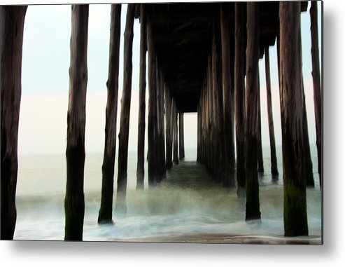 Pier Metal Print featuring the photograph Churning by Mitch Cat