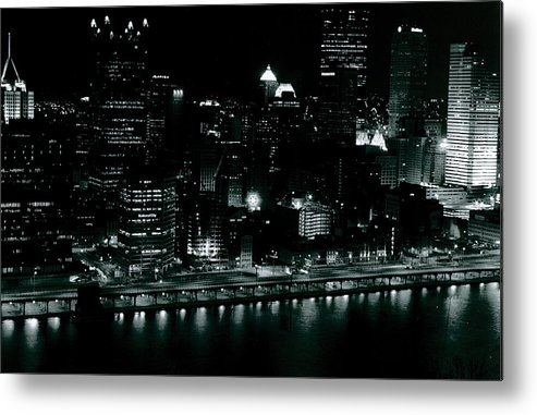 Landscape Metal Print featuring the photograph City Lights by Chaz McDowell