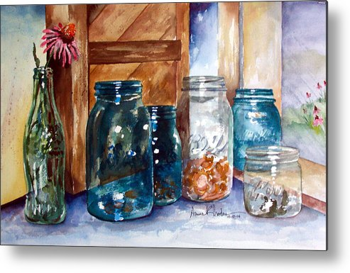 Country Metal Print featuring the painting Coin Catchers by Anne Rhodes