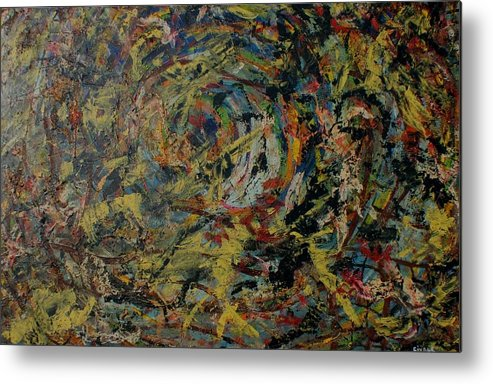Metal Print featuring the painting Cosmic Wars by Biagio Civale