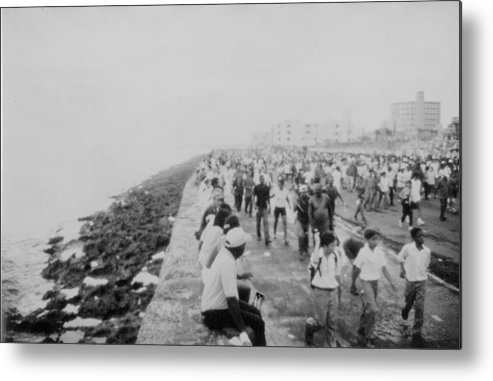 The Malec�n Havana Metal Print featuring the photograph Cuban Anti-imperialism Rally by Kareem Farooq