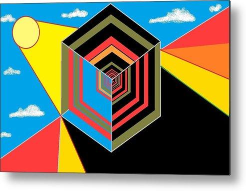 Metal Print featuring the digital art Cube by Van Winslow