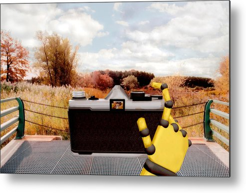 Camera Metal Print featuring the painting Digital Photographer by Peter J Sucy