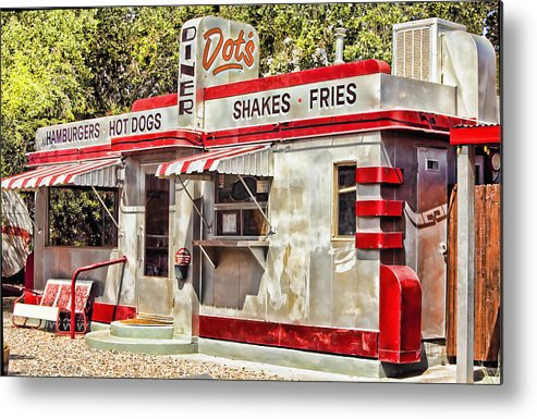 Bisbee Metal Print featuring the photograph Dots Diner Bisbee Az by Lynn Andrews