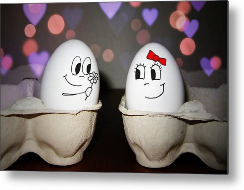 Egg Metal Print featuring the photograph Egg Love by Nicklas Gustafsson