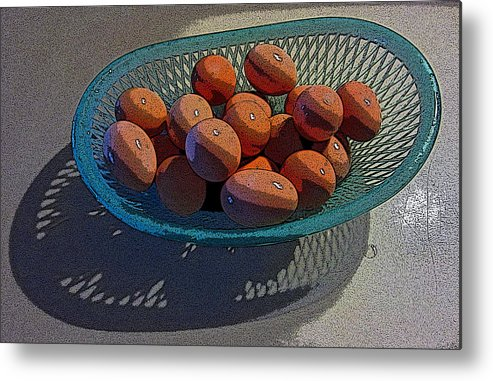 Eggs Metal Print featuring the photograph Eggs It Is by Shirley Sykes Bracken