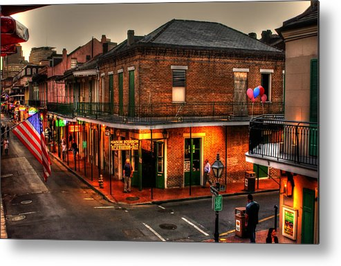 New Orleans Metal Print featuring the photograph Evening On Bourbon by Greg and Chrystal Mimbs
