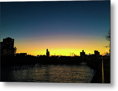Sunset Metal Print featuring the photograph Fall Sunset In Nj by Vartika Singh