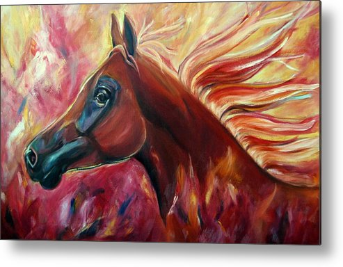 Horse Metal Print featuring the painting Firestalker by Stephanie Allison