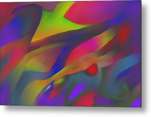 Colorful Metal Print featuring the digital art Flowing Energies by Peter Shor