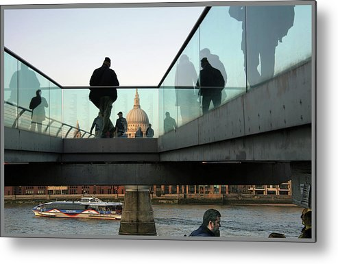 London Metal Print featuring the photograph Foot Bridge To T, Paul's by Guy Ciarcia