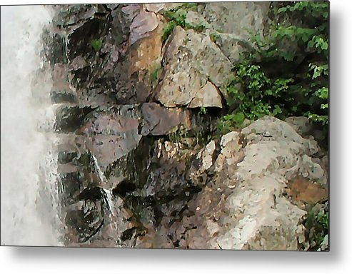 Waterfall Metal Print featuring the photograph Glen Falls Abstract by Dave Martsolf