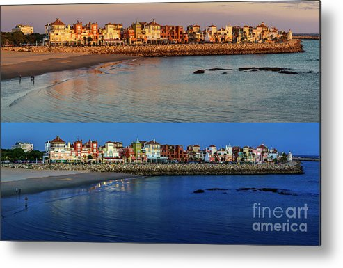 Andalucia Metal Print featuring the photograph Golden To Blue Hour Puerto Sherry Cadiz Spain by Pablo Avanzini