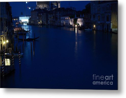 Venice Metal Print featuring the photograph Grand Canal In Venice At Night by Michael Henderson